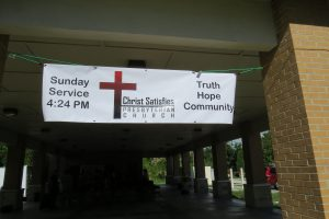 Christ Satisfies Presbyterian Church Sign